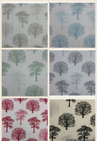 Alberi Trees Linen Cotton Designer Curtain Blinds Craft Upholstery Tree Fabric