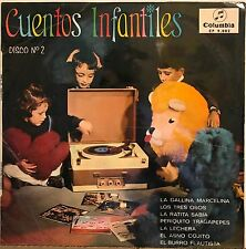 Cuentos Infantiles Disco No.2 GREAT KIDS WITH RECORDS RECORD PLAYER COVER Spain