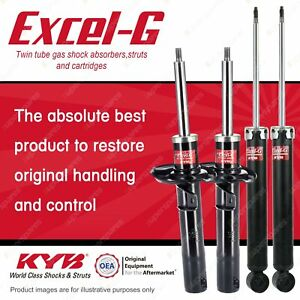 Front + Rear KYB EXCEL-G Shock Absorbers for AUDI TT 8J VB AWD FWD All Styles