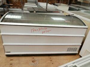 Novum chest freezer glass top white 170x75x90cm 601Liter used serviced