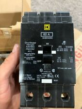 Square D Three Pole Breakers, type EDB, 60 amp