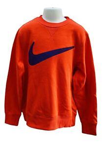 Nuovo Nike Ragazzi Felpa Arancione Altezza 140-152 CM Età 10-12 Anni