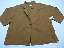Old Navy Womens Size 4XL Gold Tan Wool Blend Coat Mis-Tagged As 2X New With Tags