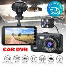 4in Dash Camera Front and Rear HD Video DVR Reverse Camera Dual Dash Cam 170°