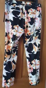 ZARA NEW WOMAN MULTICOLOURED BELTED TROUSERS  SIZE M REF:7827/111