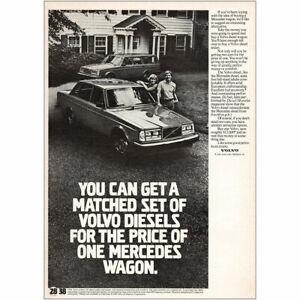 1981 Volvo: Matched Set Of Volvo Diesels Vintage Print Ad