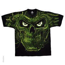 New GREEN TERMINATOR SKULL T Shirt