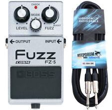 BOSS fz-5 Fuzz-Effetto Pedale dispositivo + cavo jack