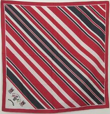 """TERRIART Red, Navy, White 1996 Curtis Cup 27"""" Square Scarf-Vintage"""