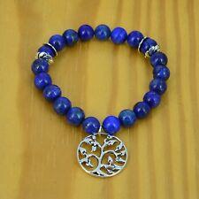 Lapis Lazuli Wrist Mala (Bracelet) with Tree of life Charm