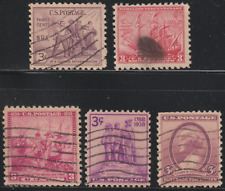(OL100A)USA 1934-8 5 DIFFERENT STAMPS USED