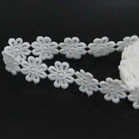 3 Yards Floral Off White Polyester Lace Trimming Applique DIY Sewing Trim Crafts