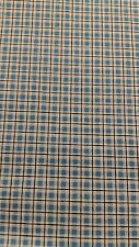 Blue Check cotton fabric with a width of 1m x 160cm.