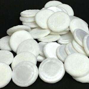 Compact Powder Puffs Cotton Velour w/ Satin Top Makeup Touch Up 20 pcs #5027