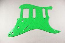 Neon Green Aluminum Diamond Plate HSS Strat Pickguard Fits Fender Stratocaster