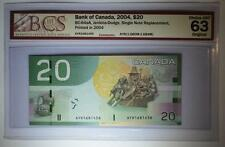 CANADA 2004 $20 AYR (1.680M-1.684) SNR Replacement BCS Graded UNC 63