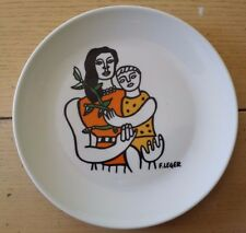 RARE FERNAND LEGER FRANCE MUSEE PLATE MOTHER & CHILD APILCO FRENCH ARTIST BIOT