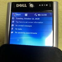 DELL AXIM X50V POCKET PC HANDHELD PDA 624MHZ BLUETOOTH WIFI WIN MOBILE 2003 SE
