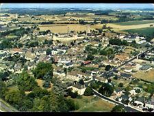 LE GRAND-PRESSIGNY (37) STADE de FOOTBALL , VILLAS & EGLISE vue aérienne en 1989