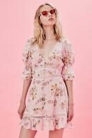 FOR LOVE & LEMONS Isadora Mini Dress Size S Orig. $342 NWT