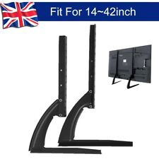"Universal Table Top TV Stand Base VESA Pedestal Mount 14""-42"" LCD OLED 3d TVS"