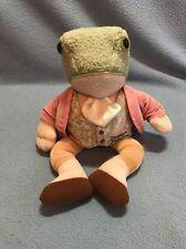 "Eden 11"" Frog Jeremy Fisher Frederick Warne Stuffed Animal Plush Lovey EUC"
