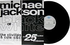 "Michael Jackson BLACK OR WHITE MIXES Disque 33t 12"" LP Maxi Single Record 1991"