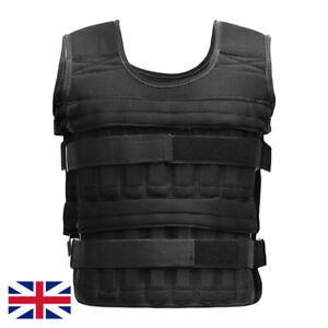 Adjustable Weighted Vest Strength Training Workout Exercise Jacket Fitness - UK