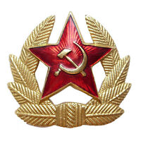 USSR Soviet Army Military Soldier Uniform Red Star Ushanka Cockade Hat Badges