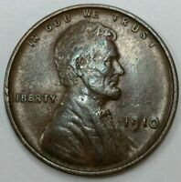 XF ++ 1910 - P - US Lincoln Wheat Cent - Exceptional Condition (Q366)