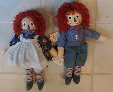 Raggedy Ann & Raggedy Andy Molly-E by Applause Vgc with Tags 18""