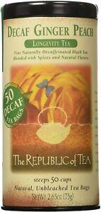 Ginger Peach Black Tea by The Republic of Tea, 50 tea bag Decaf