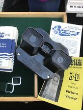 More details for bakelite viewmaster in carry box with 26 films 7 wonders of the world