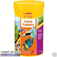 Sera O-Nip 6oz Fish Food 265 Treat Tablets Tubifex Krill Bloodworms Blend