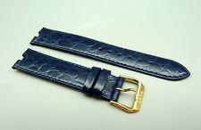 RRHJ Orig RADO 08720H CRYSMA Leder Armband Blau blue leather 19mm TOP unbenutzt