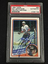 HOF PAT LaFONTAINE 1984-85 TOPPS ROOKIE SIGNED AUTOGRAPH CARD ISLANDERS PSA/DNA