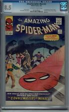 CGC 8.5 AMAZING SPIDER-MAN #22 PRINCESS PYTHON 1ST APPEARANCE OW/W PAGES