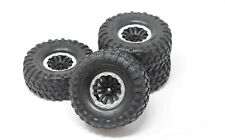 TRX-4 DEFENDER - TIRES & Wheels (Assembled glued, silver ring Traxxas 82056-4