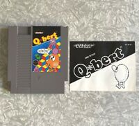 NES Q*Bert w/ Original Manual Nintendo Cartridge Clean & TESTED Excellent! Qbert