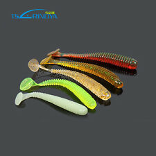 60x Soft Plastic Fishing Lures 50mm Lure Vibes Slider Worms Bait BREAM BASS PFS