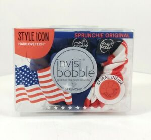 Invisibobble Scrunchie 2 Pack - Red, White & Blue, Patriotic Set