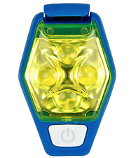 NATHAN HYPERBRITE STROBE IPX4 WEATHER RESISTANT CYCLE RUNNING LIGHT SULFUR/BLUE