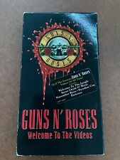 Guns N' Roses - Welcome To The Videos 1998 Rare VHS Hair Metal - FREE SHIPPING