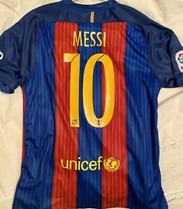 FC Barcelona Lionel Messi 2015-2016 Home Football / Soccer Jersey Nike Mens XL