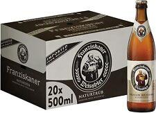 20 x Bottiglie di birra Franziskaner Hell Birra Weissbier bianca, 20 x 500 ml