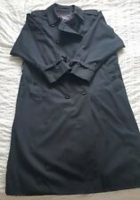 Vintage Burberrys navy trench coat 14 petite G89A