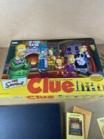 The Simpsons Clue Board Game 2nd Edition (Parker Brothers, 2002) *100% COMPLETE*