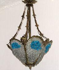 ~Traumhafte Handgearbeitete Antik Messing-Glas Dekorative Kronleuchter, Lüster