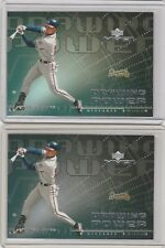 2000 Upper Deck MVP - Drawing Power #DP4 Chipper Jones Lot of 2