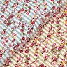 Cotton Fabric by FQ Pink Rose Floral Retro Striped Quilting Patchwork Craft VK64